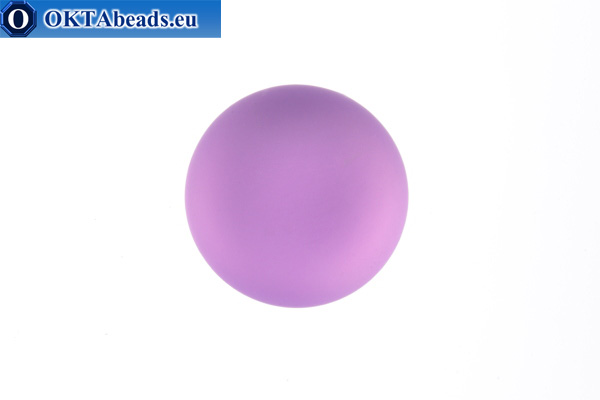 Lunasoft kabošon Light Amethyst 12mm