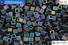 MIYUKI Square Beads Matte Black AB (401FR) CBM401FR