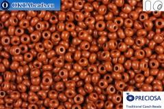 Прециоза чешский бисер 1 сорт коричневый (13600) 10/0, 50гр