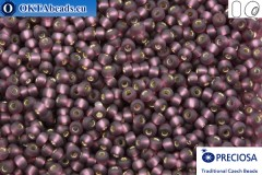 Прециоза чешский бисер 1 сорт фиолетовый с прокрасом серебром матовый (27060m) 8/0, 50гр