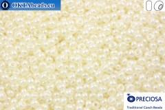 Прециоза чешский бисер 1 сорт белый жемчужный (47102) 10/0, 50гр
