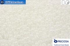 Preciosa český rokajl 1 jakost bílý perlový (57102) 9/0, 50g
