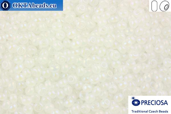 Preciosa český rokajl 1 jakost alabastr AB (57205) 10/0, 50g
