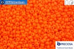 Preciosa český rokajl 1 jakost oranžový matný (93140m) 9/0, 50g