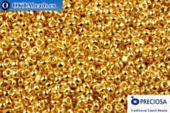 Preciosa Charlotte 24kt Gold Plated 15/0, 50gr