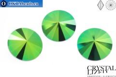 1122 SWAROVSKI Rivoli Chaton - Crystal Scarabaeus Green ss47 (~10мм), 1шт