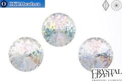 1122 SWAROVSKI Rivoli Chaton - Crystal White Patina ss47 (~10мм), 1шт