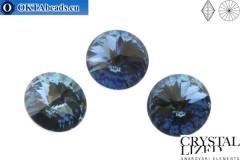 1122 SWAROVSKI Rivoli Chaton - Denim Blue 12mm, 1ks