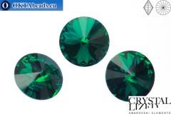 1122 SWAROVSKI Rivoli Chaton - Emerald 18мм, 1шт