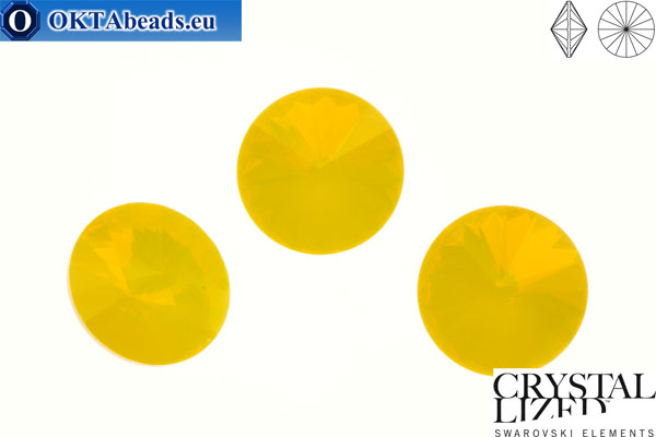 1122 SWAROVSKI Rivoli Chaton - Yellow Opal 12mm, 1ks