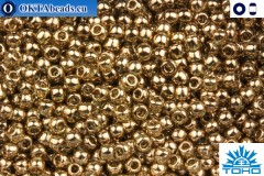 TOHO Beads Gold-Lustered Montana Blue (204) 15/0