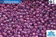TOHO Beads Gold-Lustered Dark Amethyst (205) 15/0