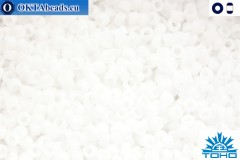 Toho Beads Opaque-Frosted White (41F) 11/0 TR-11-41F
