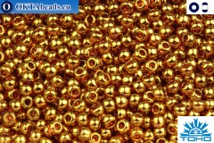 TOHO Beads Gold-Lustered Transparent Pink (421) 15/0