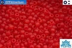 TOHO Beads Transparent-Frosted Ruby (5CF) 11/0