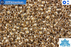 TOHO Beads Gold-Lined Crystal (989) 15/0