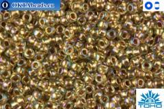 Toho Beads Gold-Lined Rainbow Lt Jonquil (998) 15/0 TR-15-998