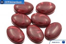 Acrystone cabochon burgundy agate 25х18mm, 1pc ACR0007