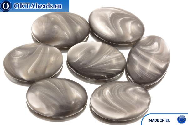Acrystone cabochon graphite agate 25х18mm, 1pc