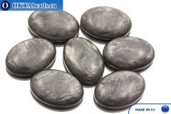 Acrystone kabošon grafit perlový 25х18mm, 1ks ACR0011