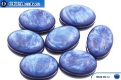 Acrystone kabošon kobalt perlový 25х18mm, 1ks ACR0013