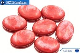 Acrystone кабошон красный жемчужный 25х18мм, 1шт ACR0014