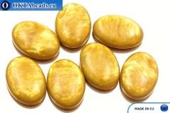 Acrystone cabochon ochre pearl 25х18mm, 1pc
