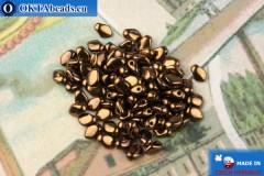 Gekko Korálky bronz (23980/14415) 3x5mm, 5g MK0487