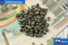 Бусины Гекко черный травертин (23980/83400) 3х5мм, 5гр