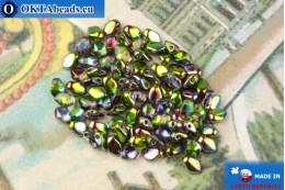Бусины Гекко кристалл витраил (00030/95000) 3х5мм, 5гр MK0484