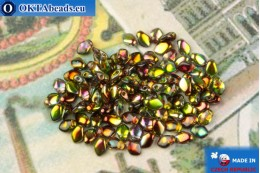 Бусины Гекко кристалл витраил (00030/95400) 3х5мм, 5гр MK0481