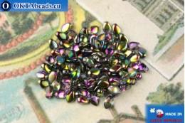 Бусины Гекко кристалл витраил (00030/95500) 3х5мм, 5гр MK0469