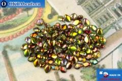 Бусины Гекко кристалл витраил (00030/95400) 3х5мм, 5гр