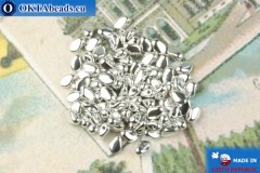 Бусины Гекко серебро (00030/27000) 3х5мм, 5гр MK0474