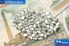 Бусины Гекко серебро матовый (01700) 3х5мм, 5гр, MK0489