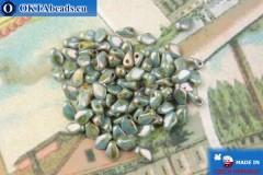 Бусины Гекко серый глянцевый травертин (03000/65431) 3х5мм, 5гр