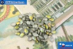 Бусины Гекко серый радужный матовый (00030/28171) 3х5мм, 5гр, MK0478