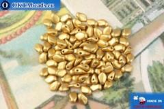 Бусины Гекко золото матовый (01710) 3х5мм, 5гр