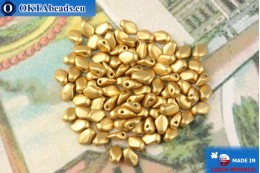 Gekko Beads gold matte (01710) 3x5mm, 5g MK0483
