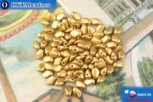 Бусины Гекко золото матовый (01710) 3х5мм, 5гр MK0483