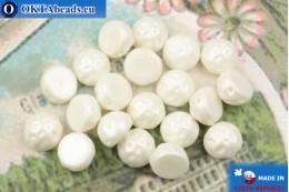 Бусины Кабошон Барокко белые жемчужные (02010/24001) 7мм, 20шт MK0550