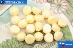 Cabochon Baroque Beads beige luster (03000/14413) 7mm, 20pc, MK0551