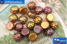 Cabochon Baroque Beads iris gold matte (00030/01620) 7mm, 20pc MK0546