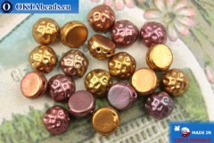 Cabochon Baroque Beads iris gold matte (00030/01620) 7mm, 20pc, MK0546
