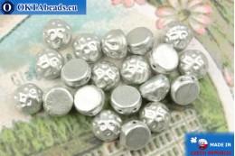 Бусины Кабошон Барокко серебро матовые (00030/01700) 7мм, 20шт MK0547