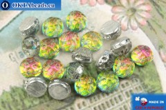 Cabochon Baroque Beads vitrail (00030/28102) 7mm, 20pc