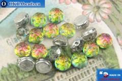 Cabochon Baroque Beads vitrail (00030/28102) 7mm, 20pc