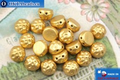 Cabochon Baroque Beads gold matte (00030/01710) 7mm, 20pc