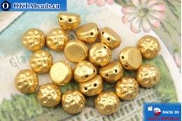 Бусины Кабошон Барокко золото матовые (00030/01710) 7мм, 20шт MK0548