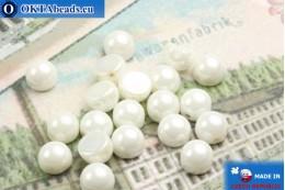 Бусины Кабошон белые глянцевые (L03000) 6мм, 20шт MK0159
